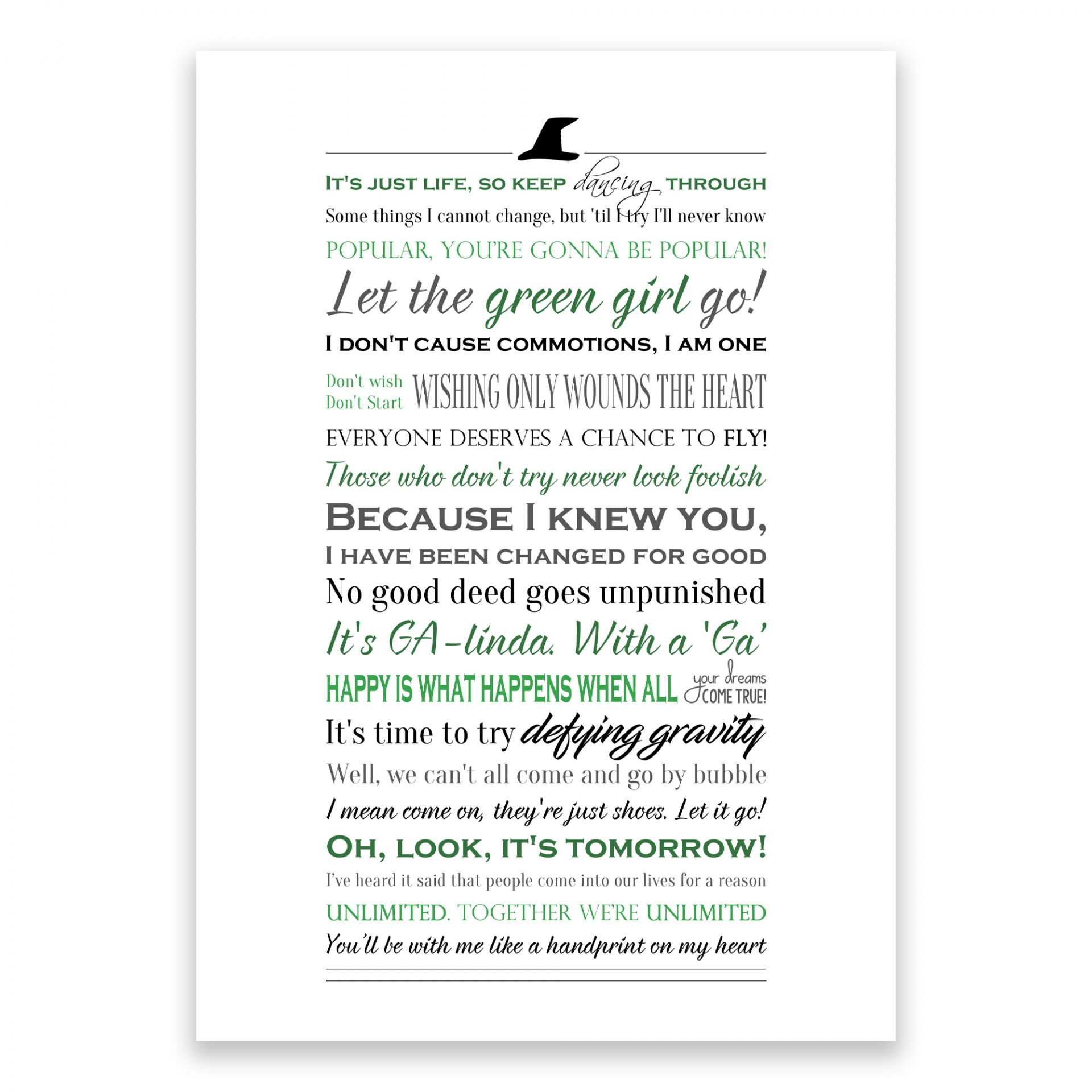 Wicked quotes print
