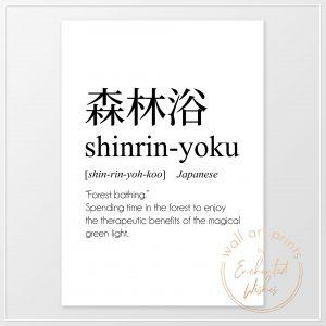 Shinrin-yoku definition print