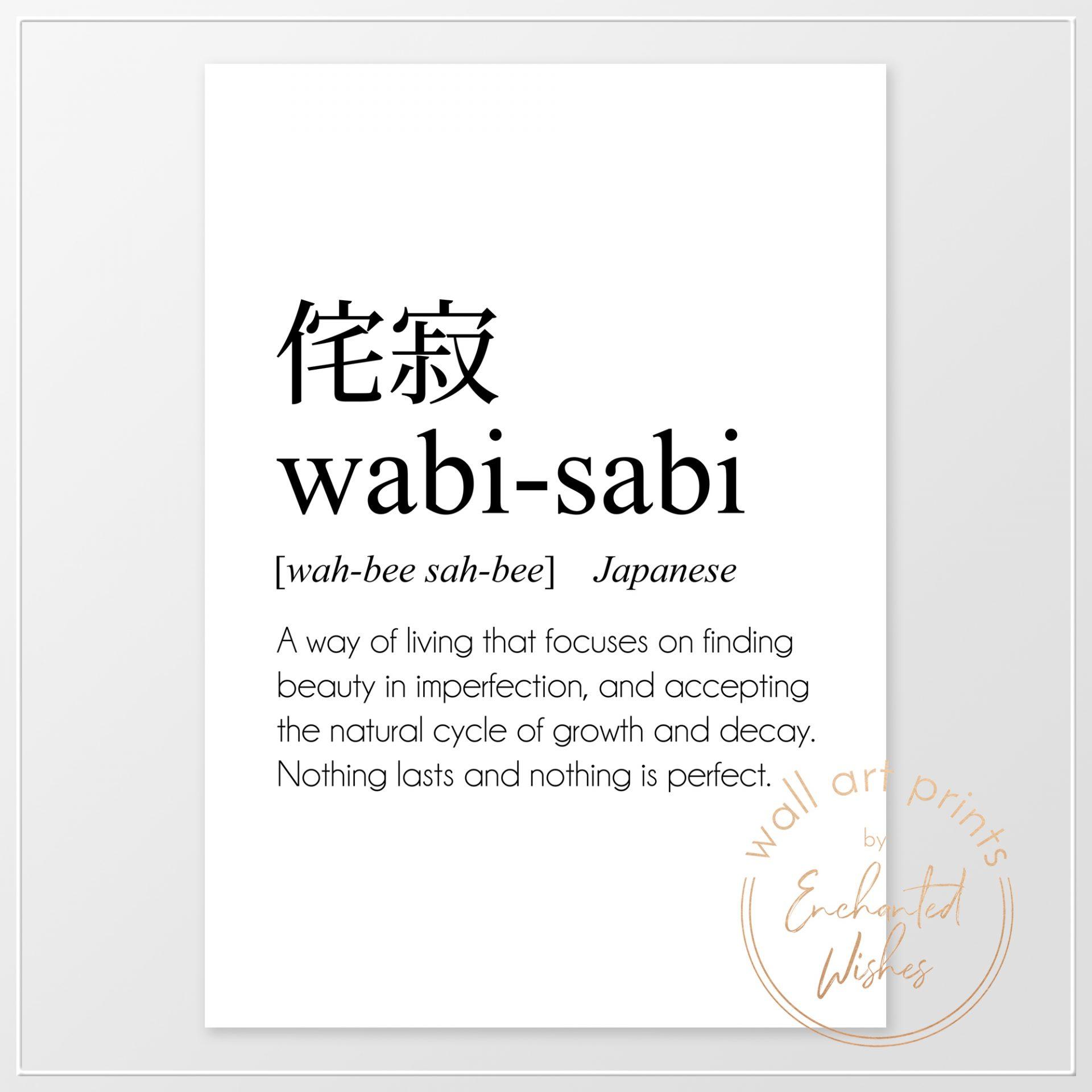 Wabi-sabi definition print