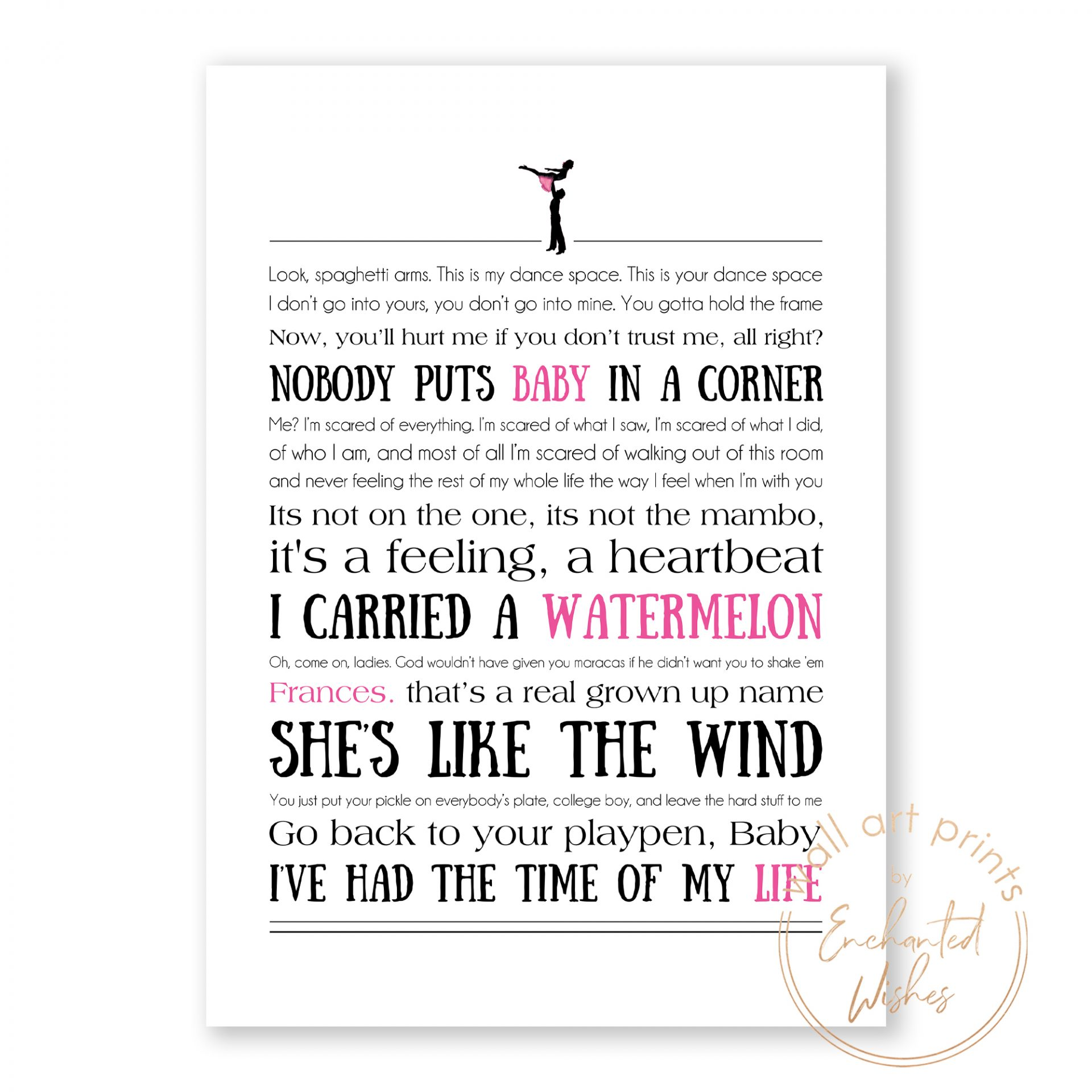 Dirty Dancing Quotes Print