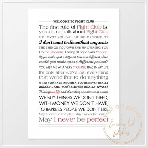Fight Club Quotes Print
