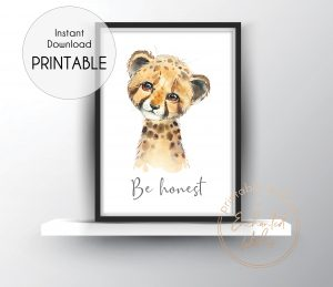 Cheetah be honest print