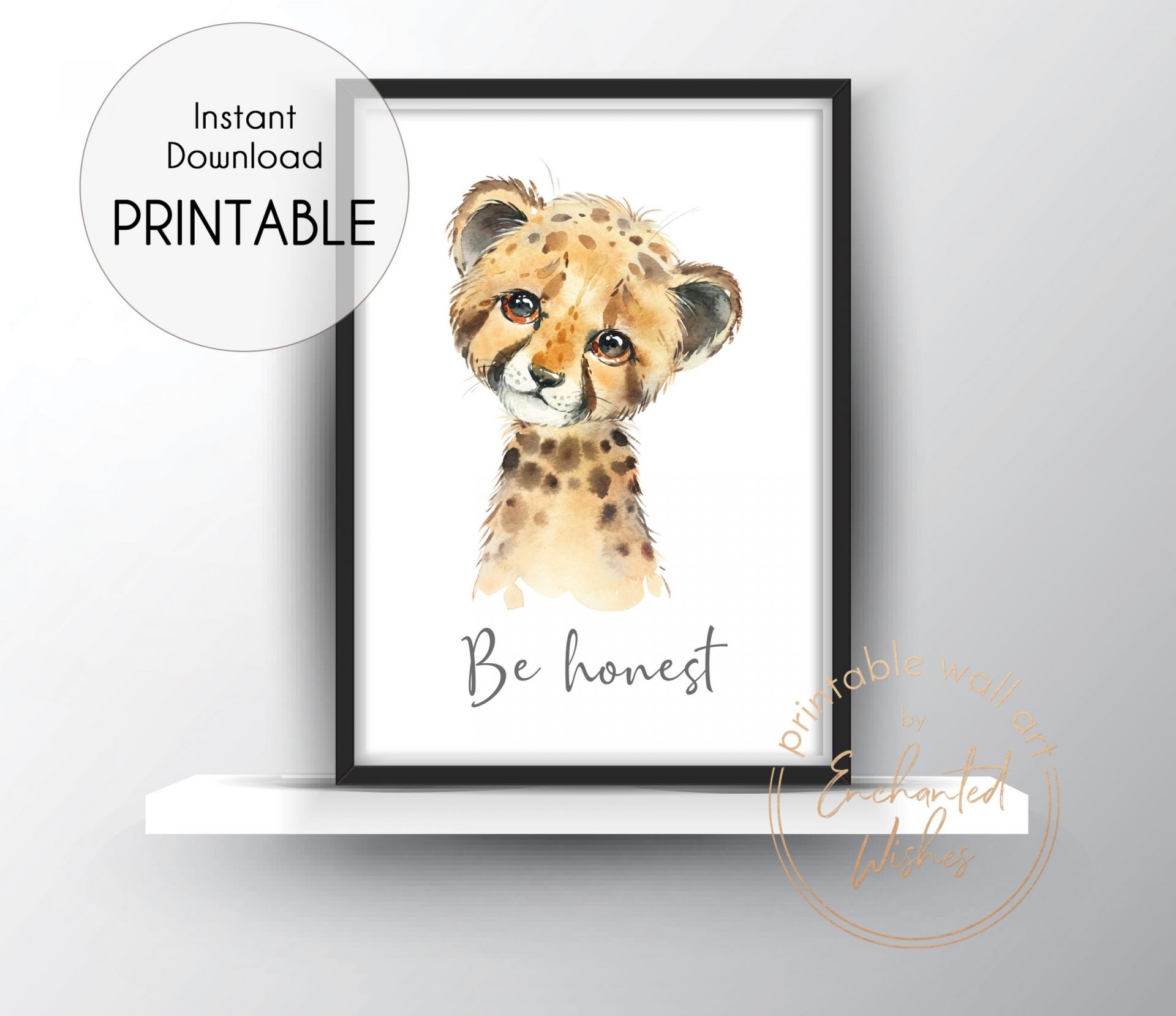 Cheetah be honest print