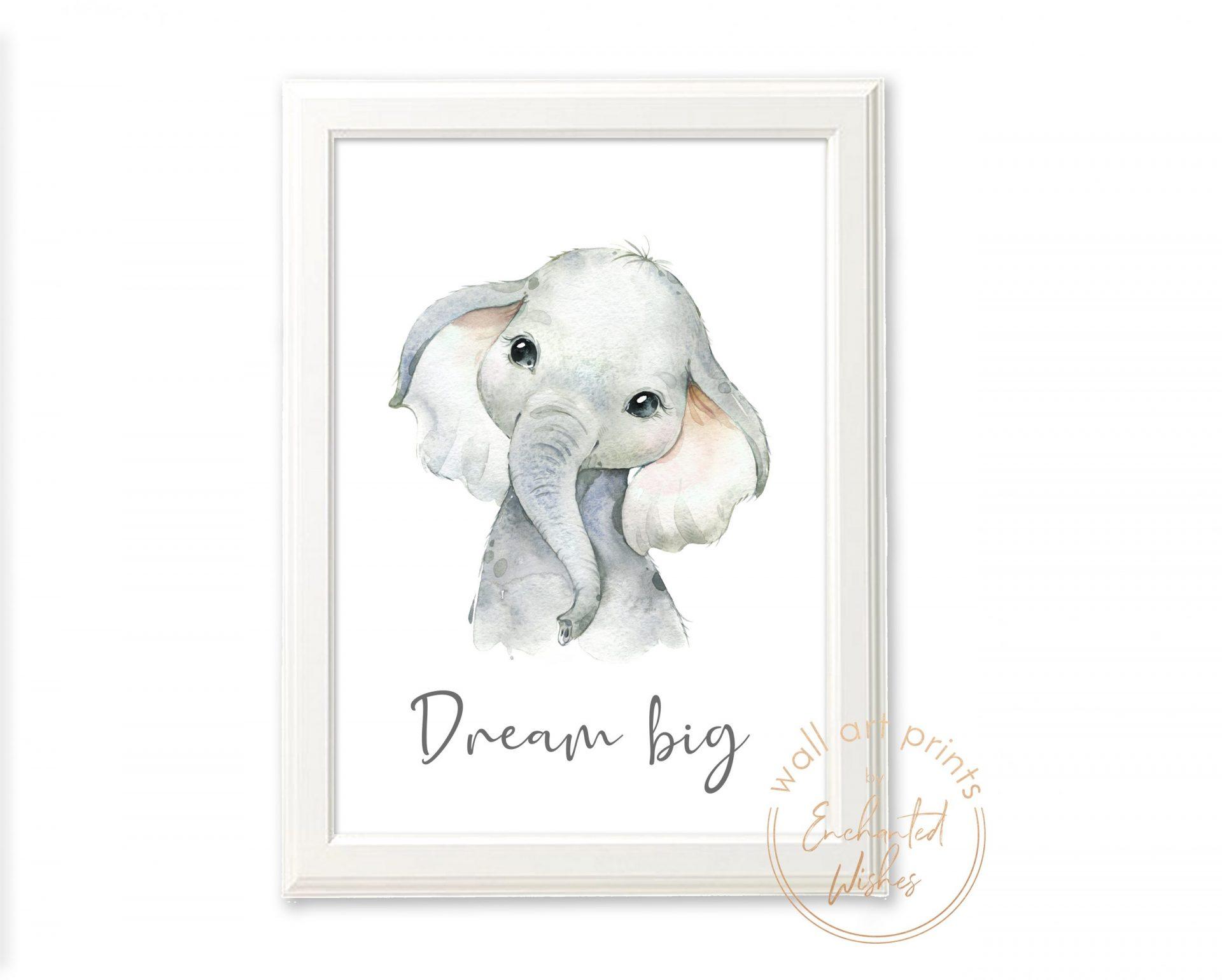 baby elephant quote printable