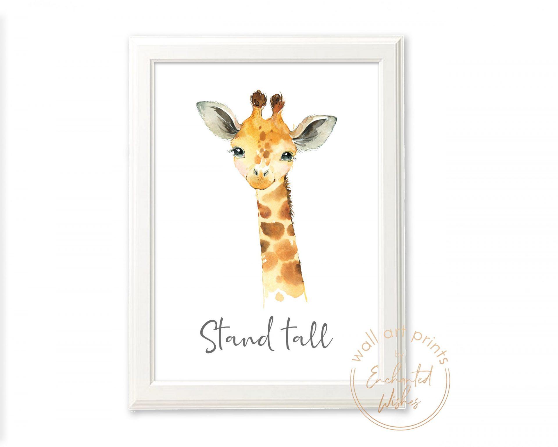 Baby giraffe nursery print