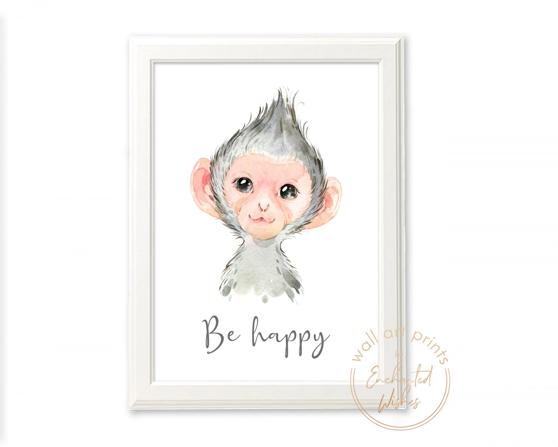 Baby monkey nursery print