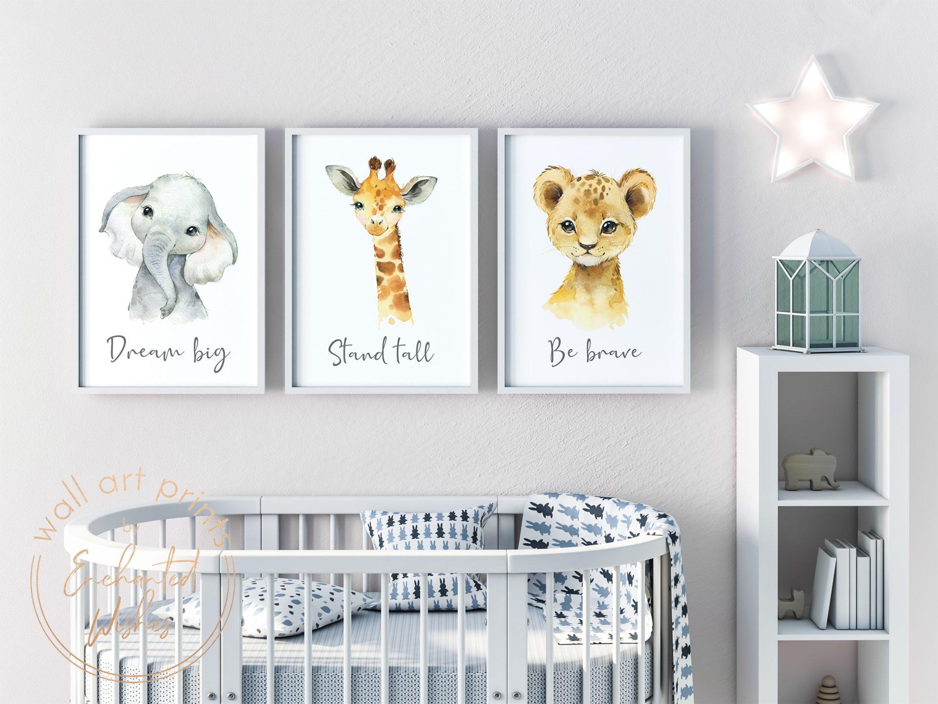 Baby safari animal nursery