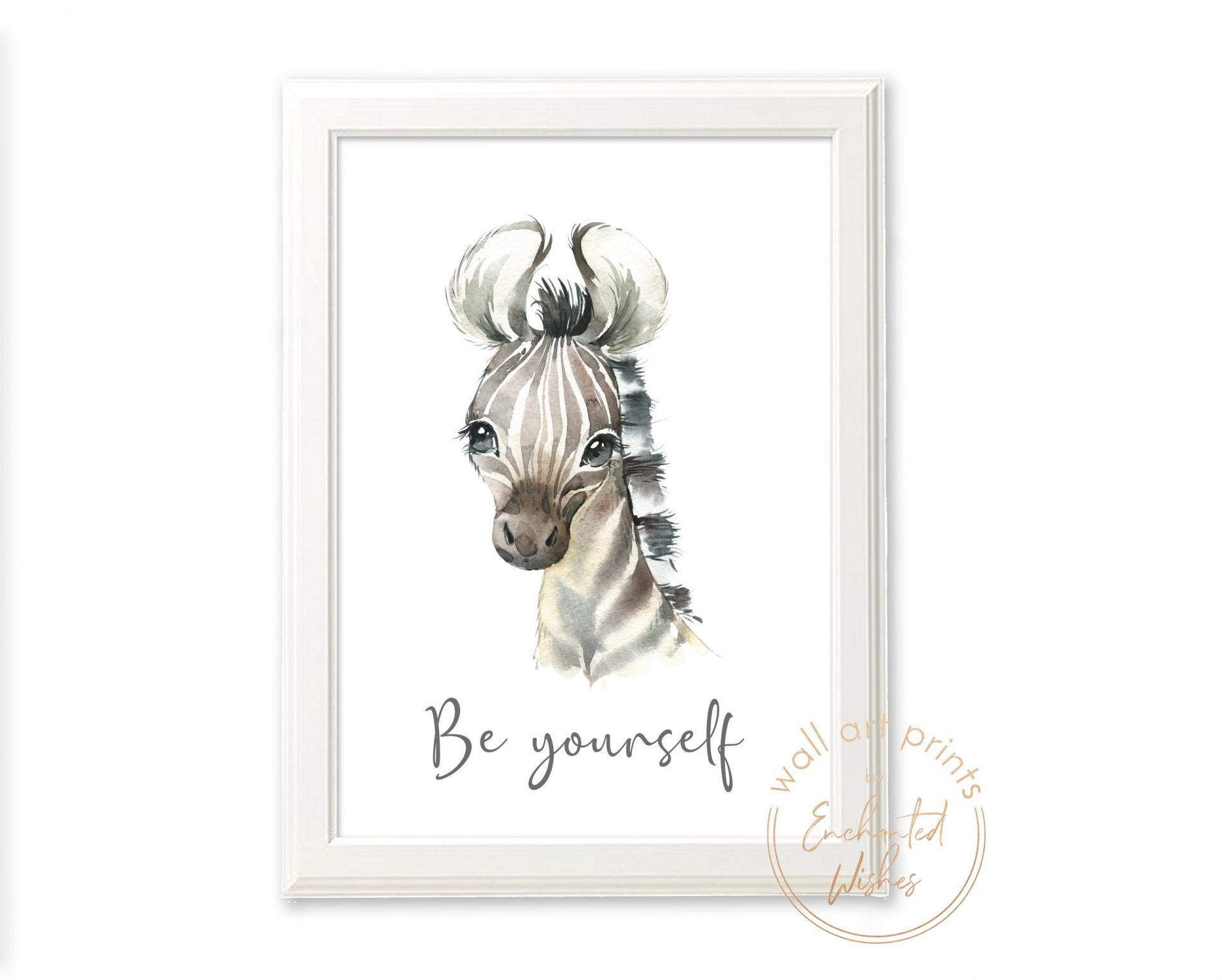 Baby zebra nursery print
