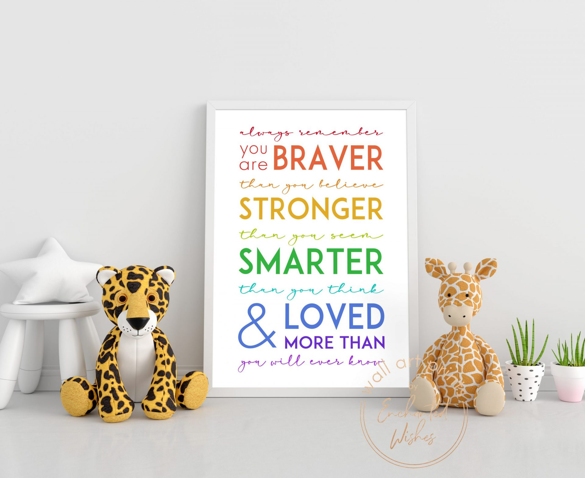 Always Remember You Are Quote Print Rainbow Nursery