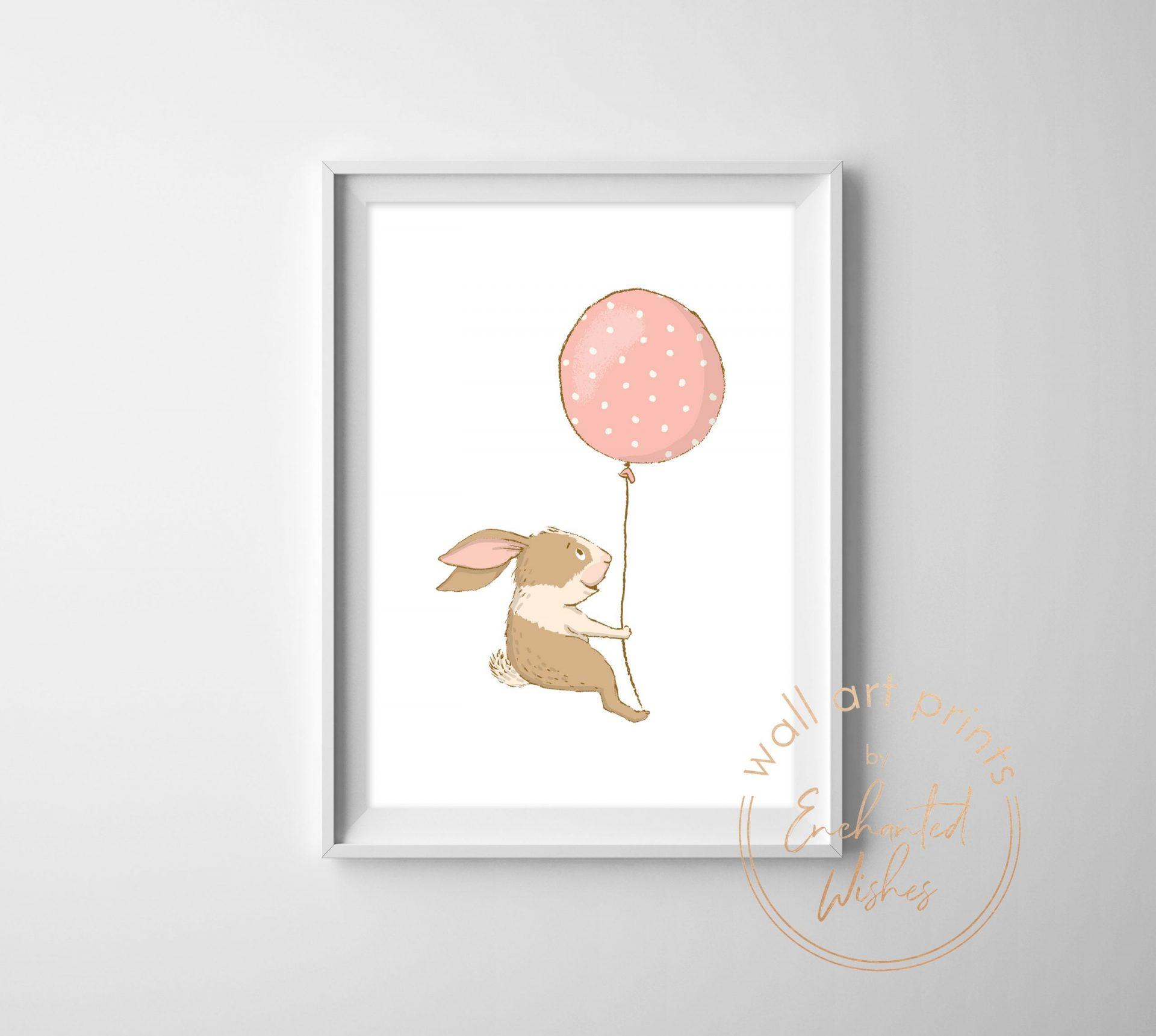 Bunny with balloon print