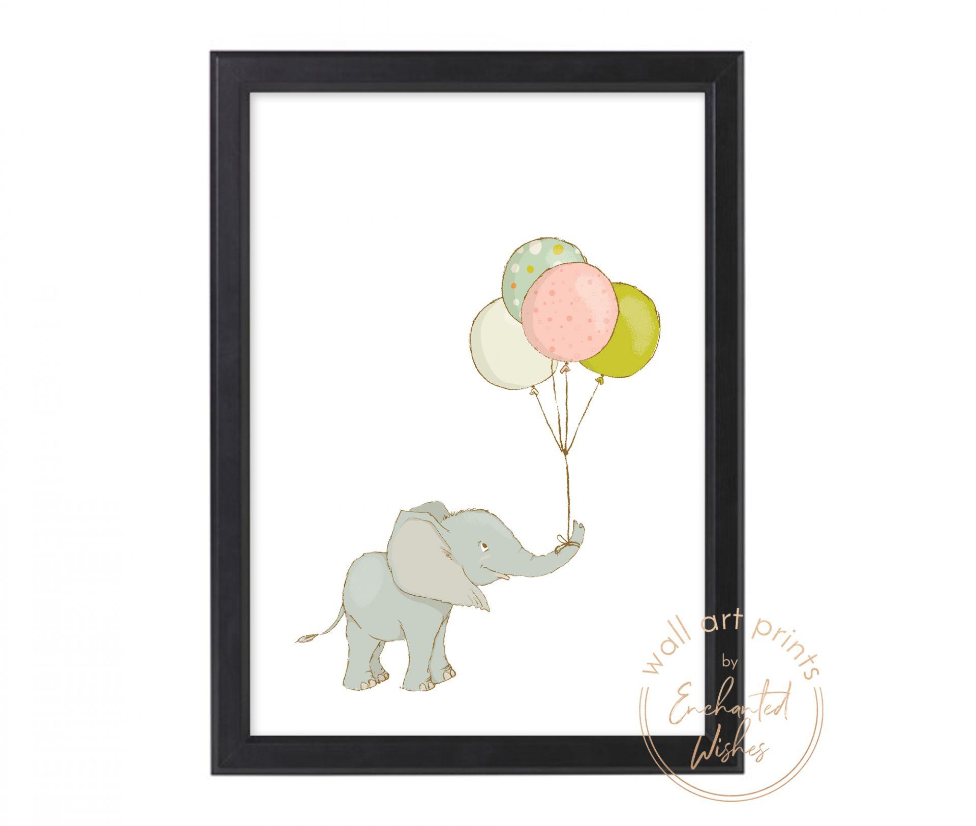 Elephant with balloon print