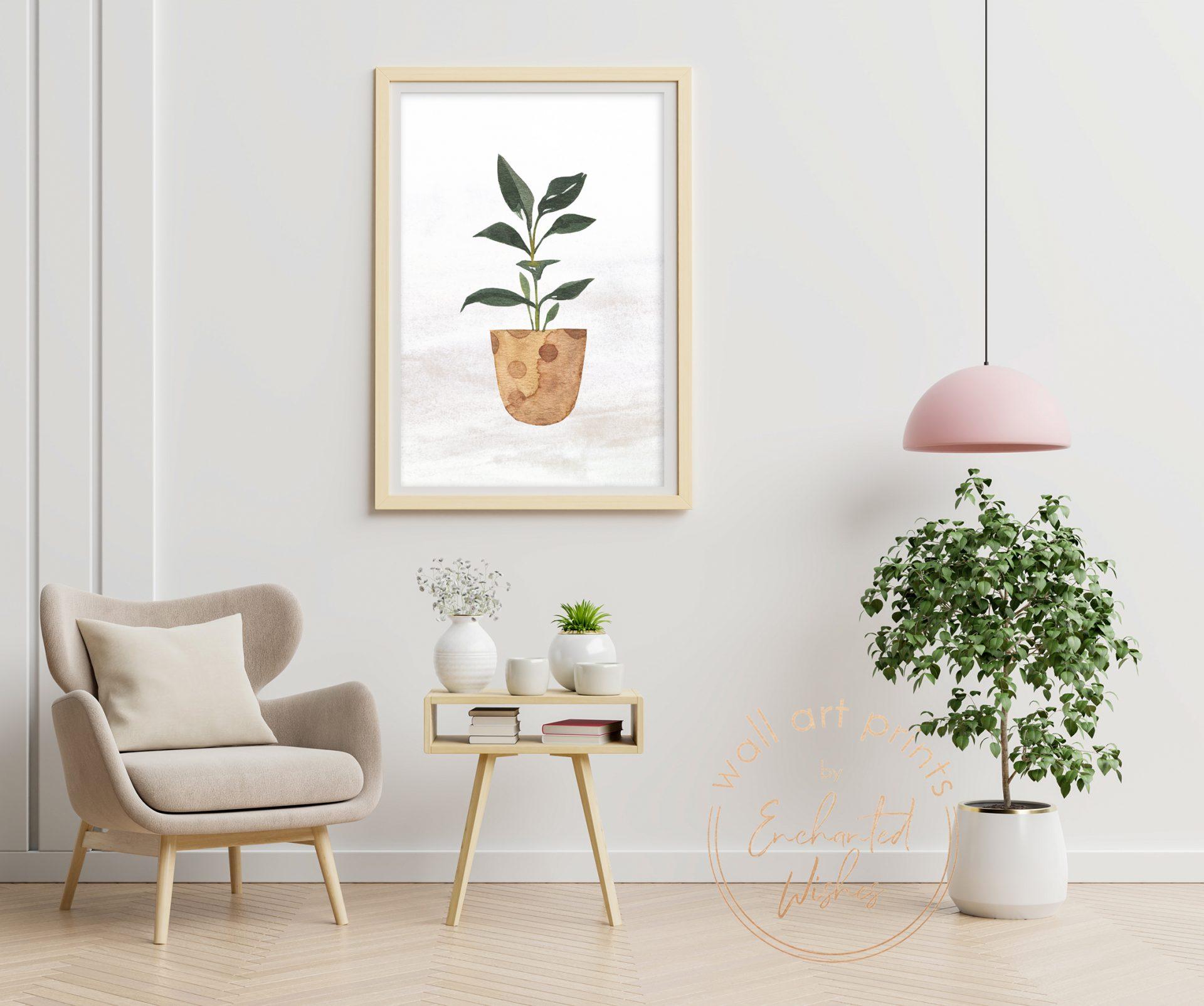 House plant print