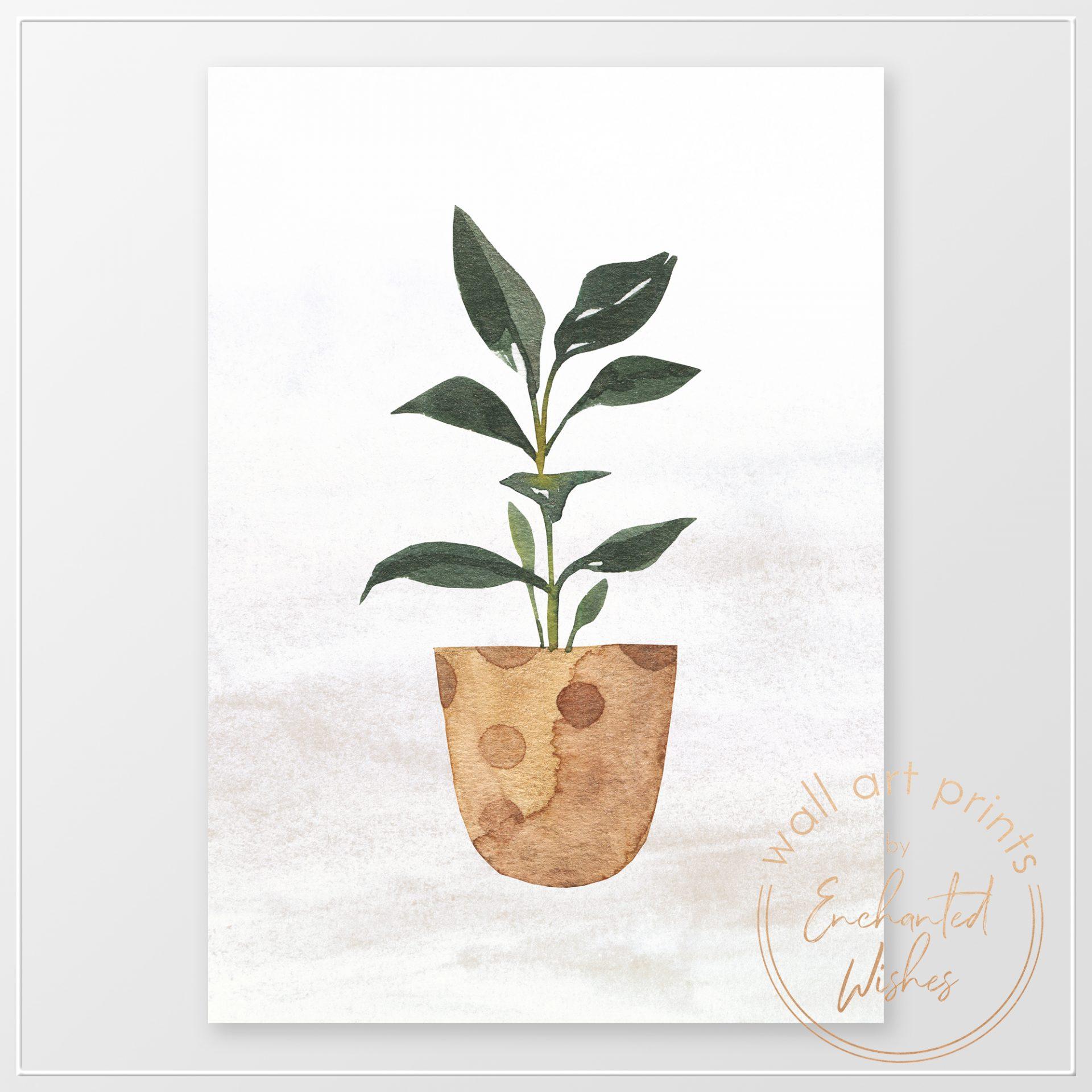 Houseplant watercolor print