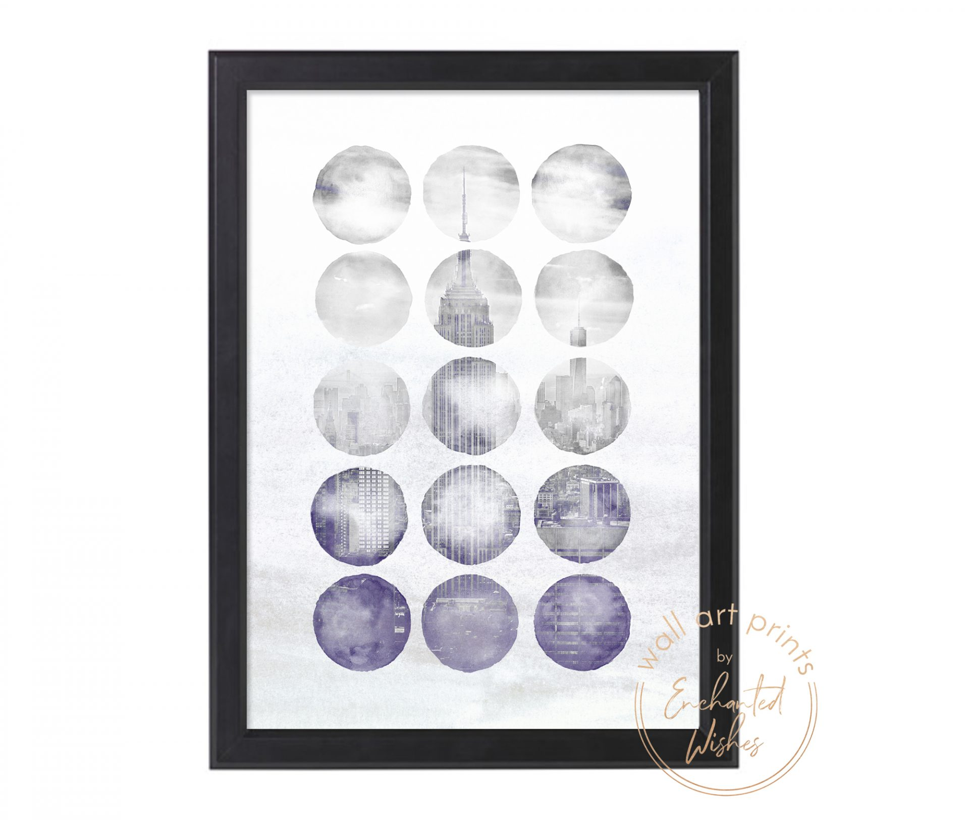 Abstract New York Circles Print