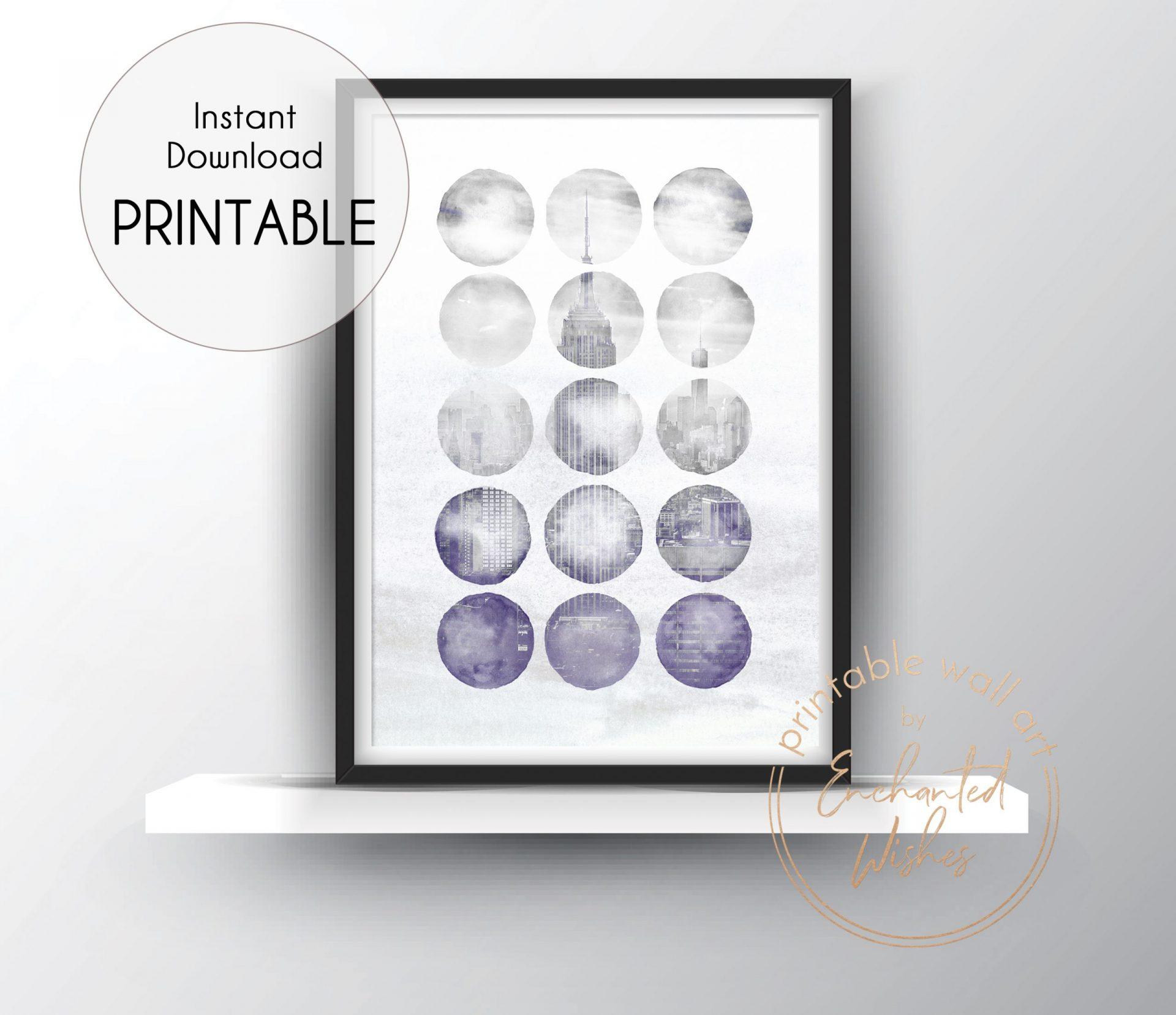 Abstract New York Print