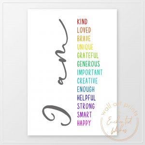 Positive affirmations print