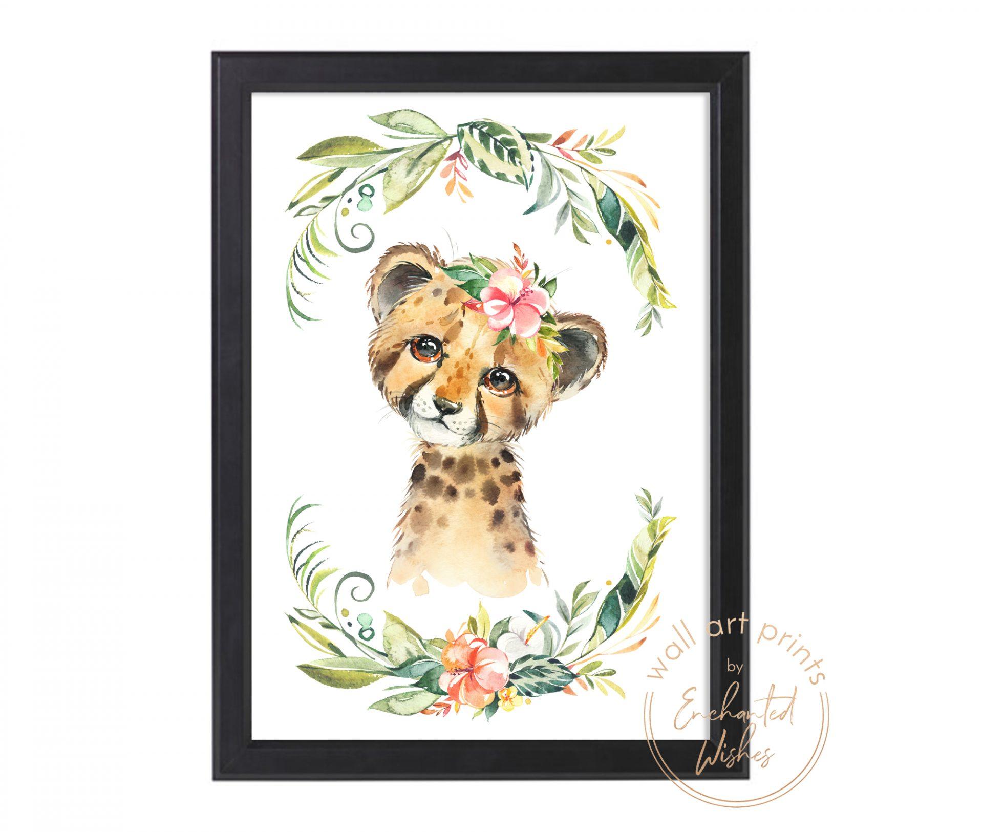 floral safari cheetah print