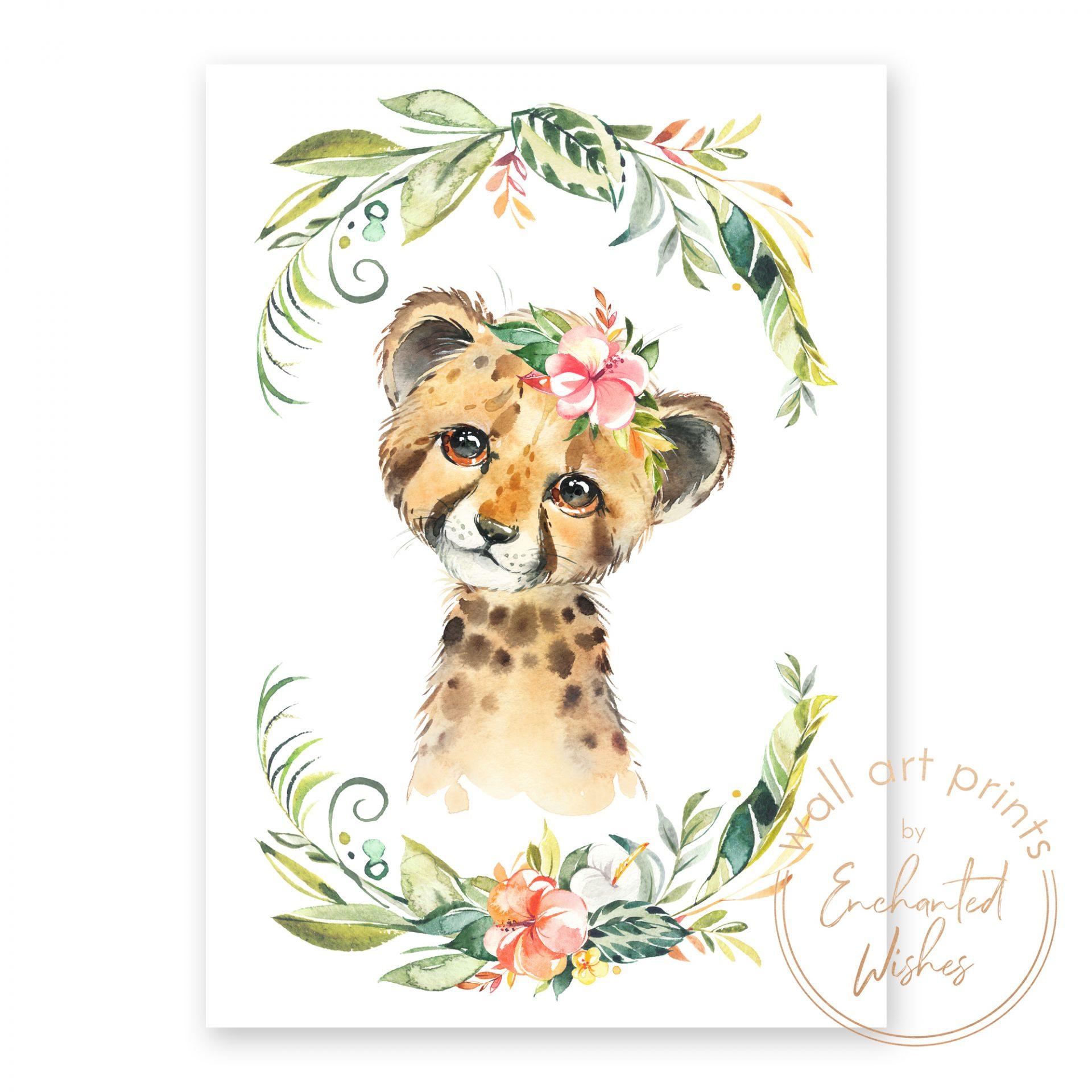 floral safari cheetah