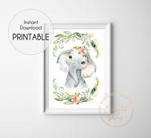floral safari elephant