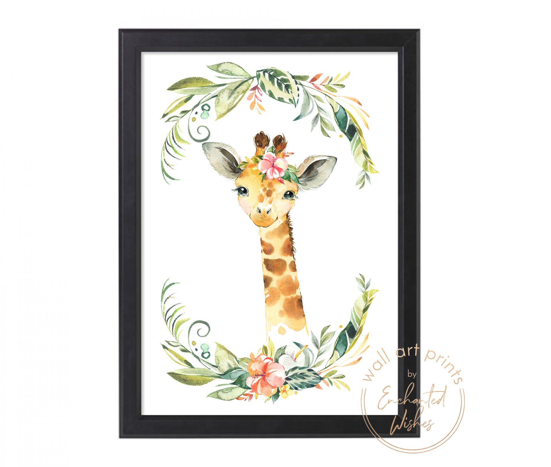 floral safari giraffe print