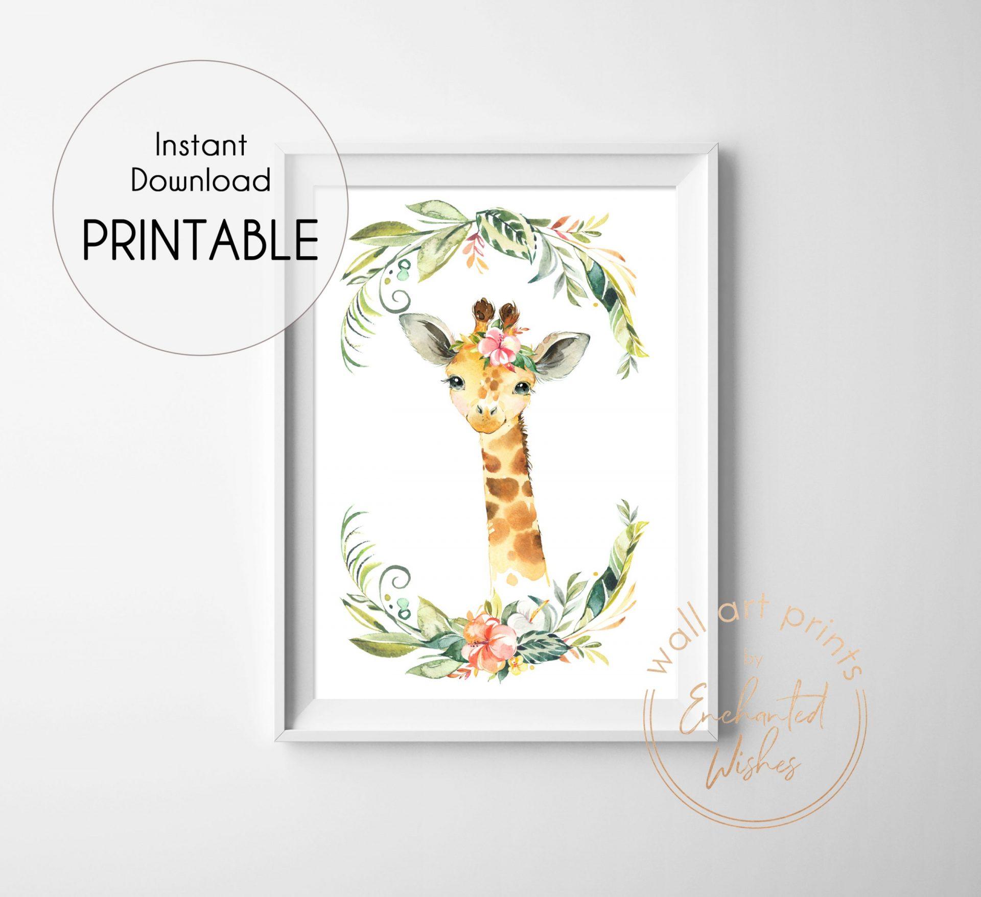 floral safari giraffe