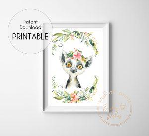 floral safari lemur