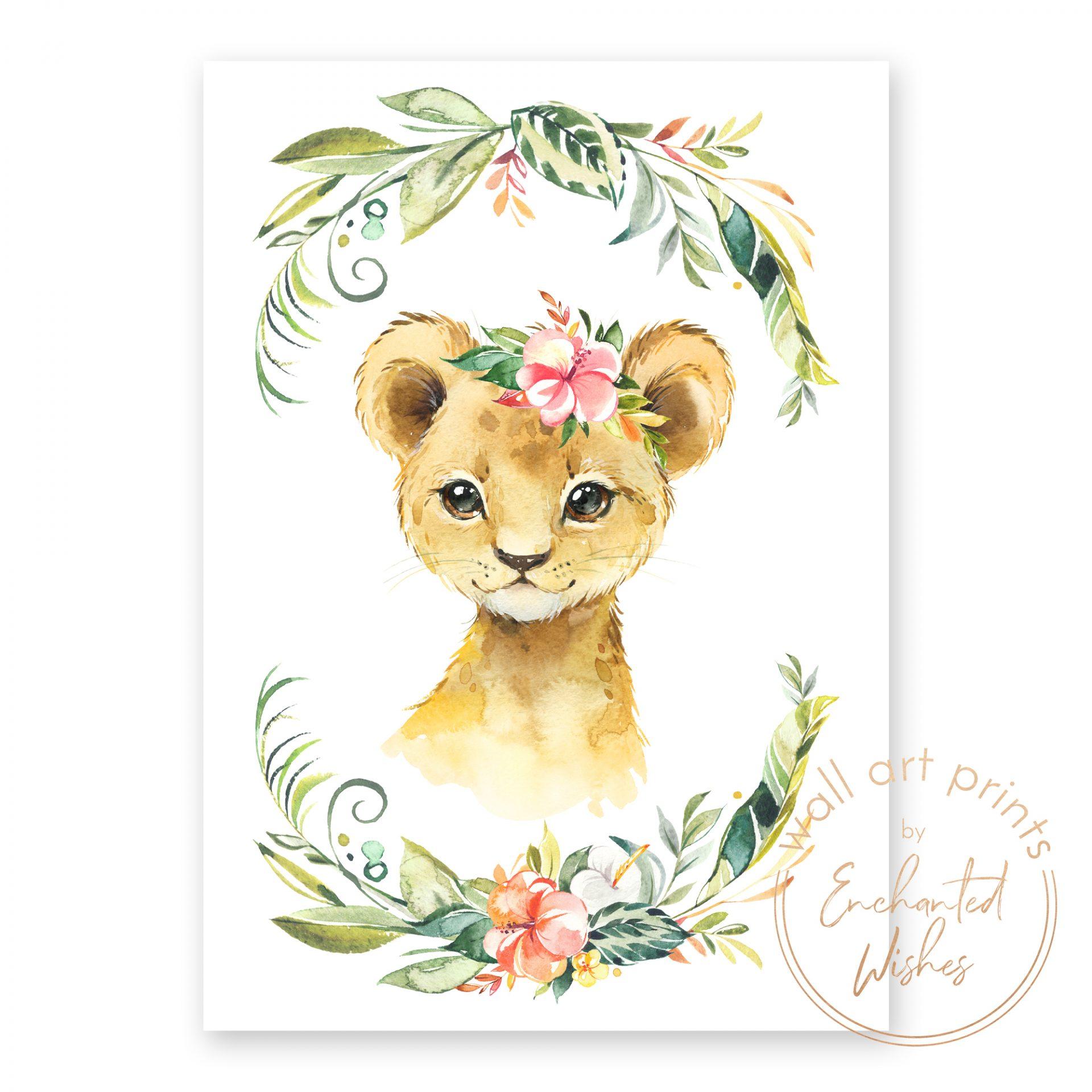 floral safari lion