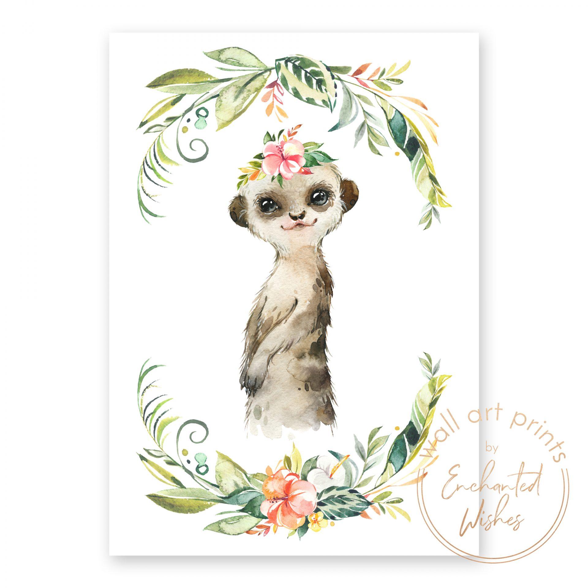 floral safari meerkat