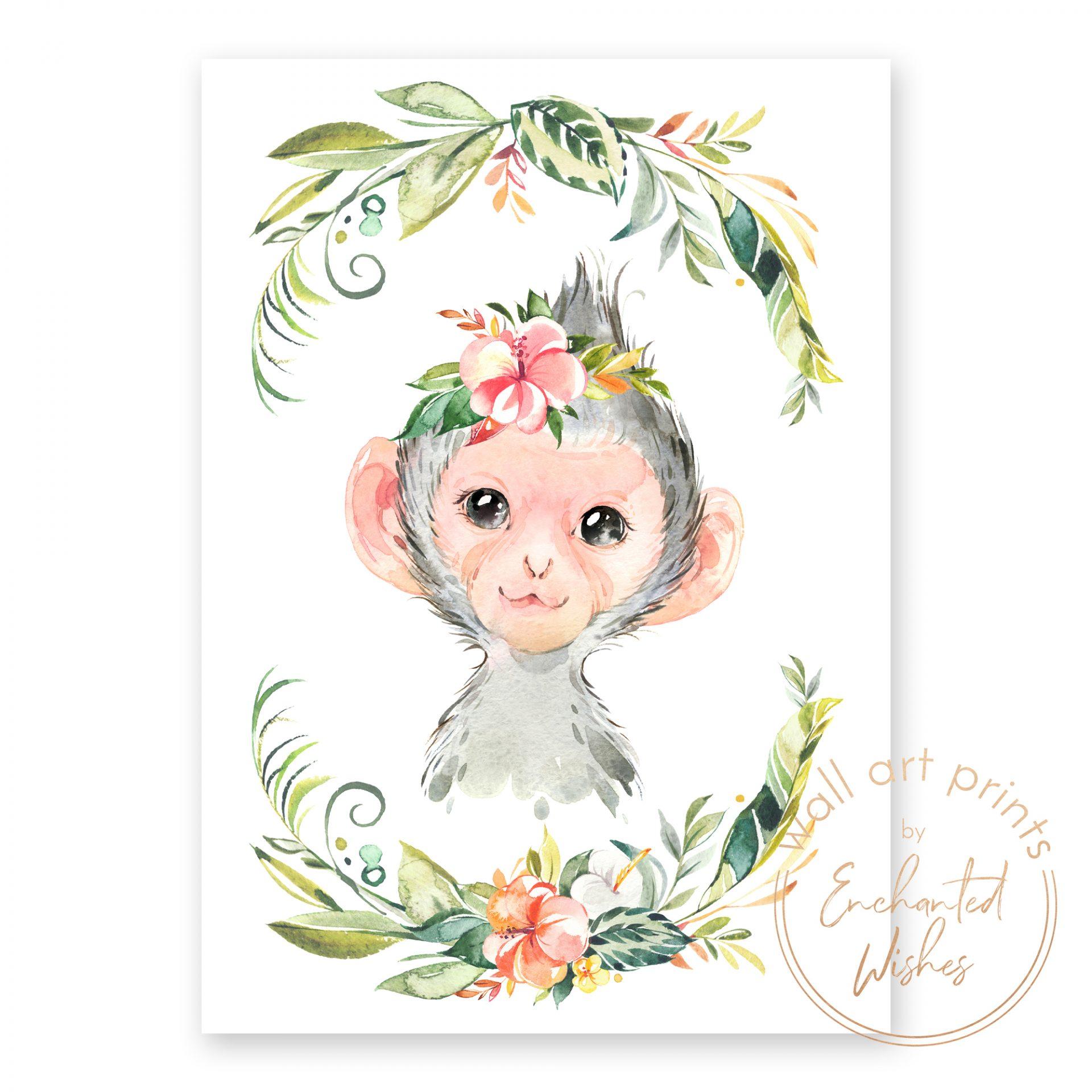 floral safari monkey