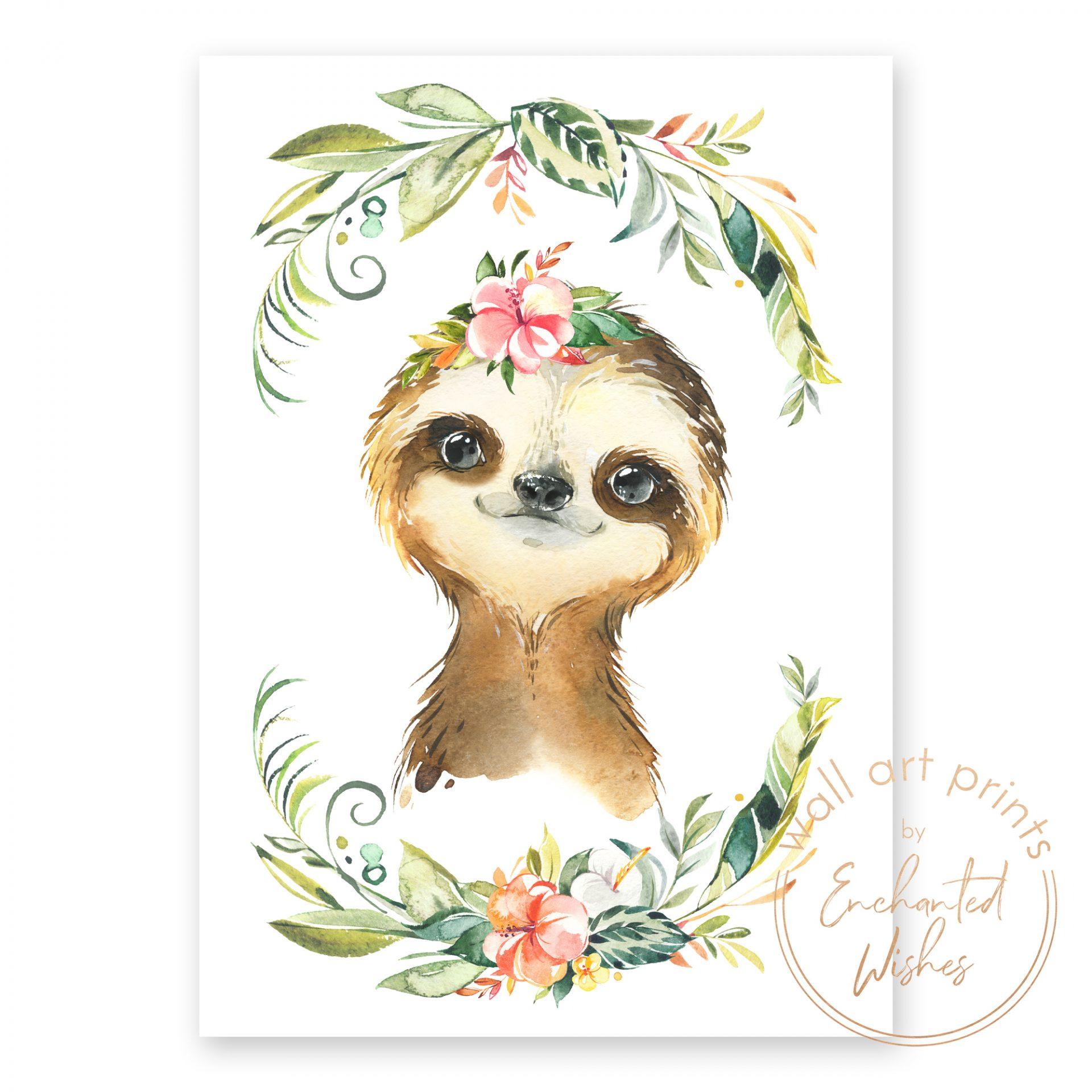 floral safari sloth