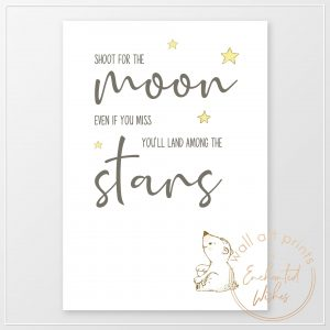 Shoot for the moon nursery print