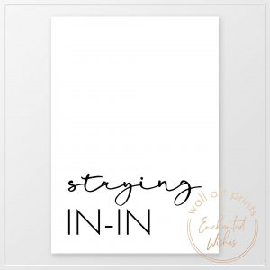 Staying in-in print
