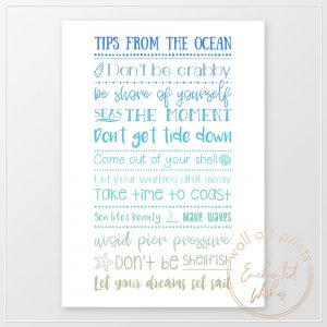 Advice from the pcean print