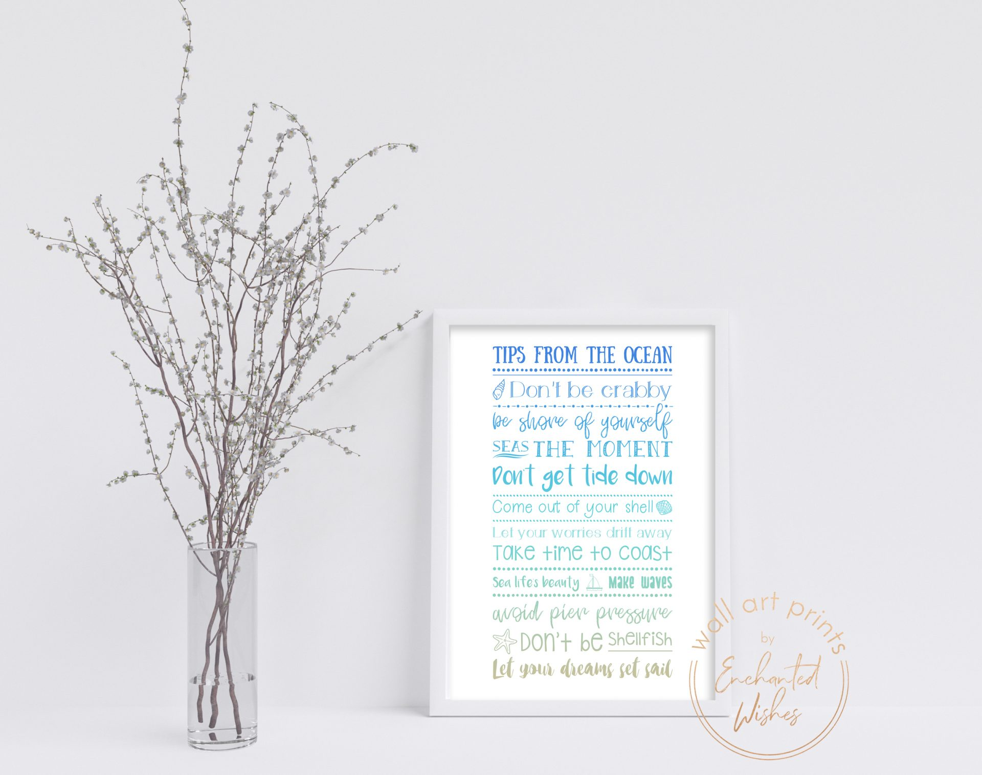 Advice from the ocean print