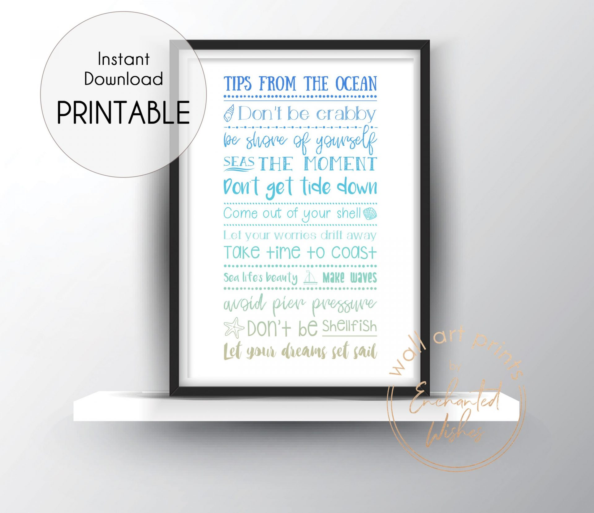 Tips from the ocean print