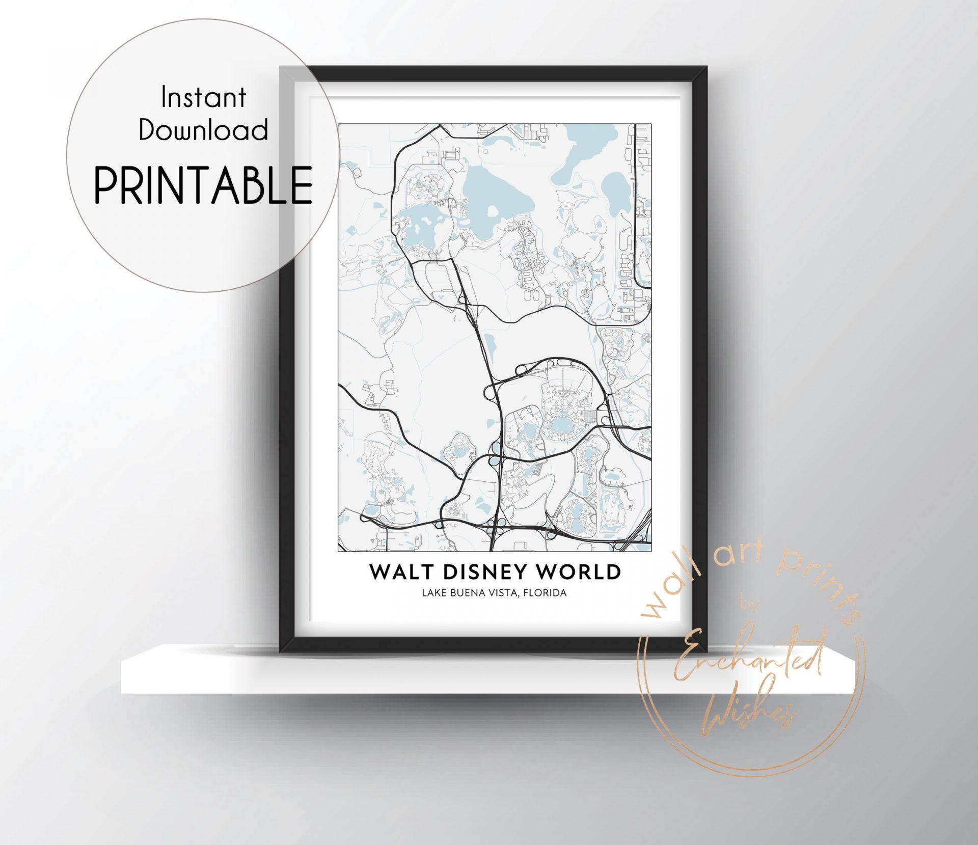Walt Disney World road map print