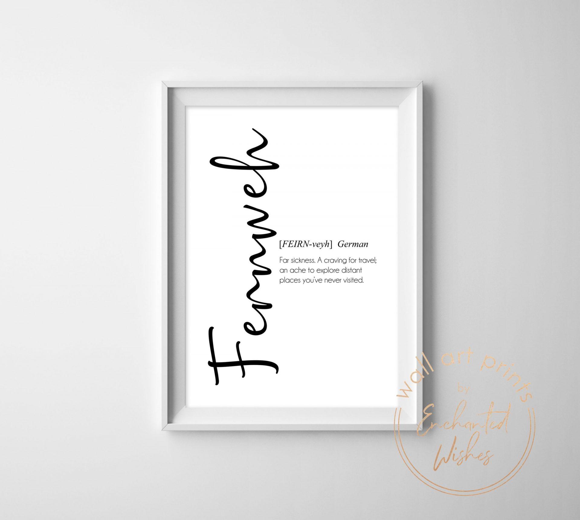 Fernweh definition print