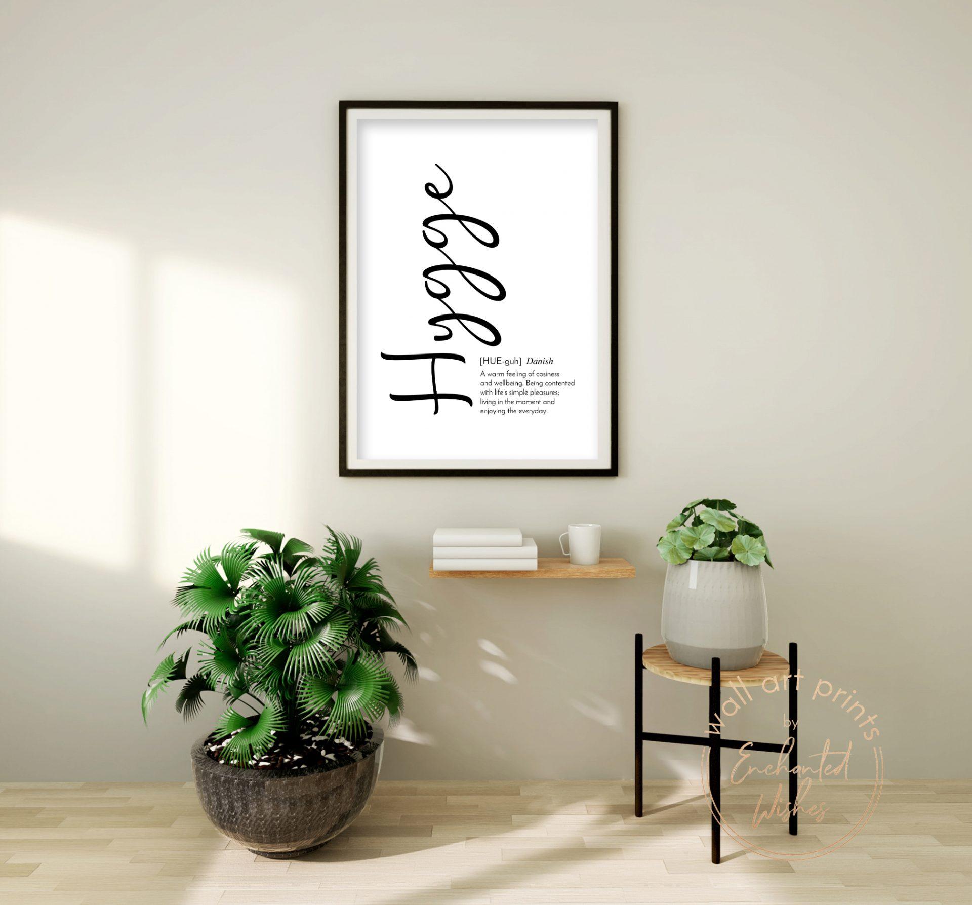 Hygge definition print