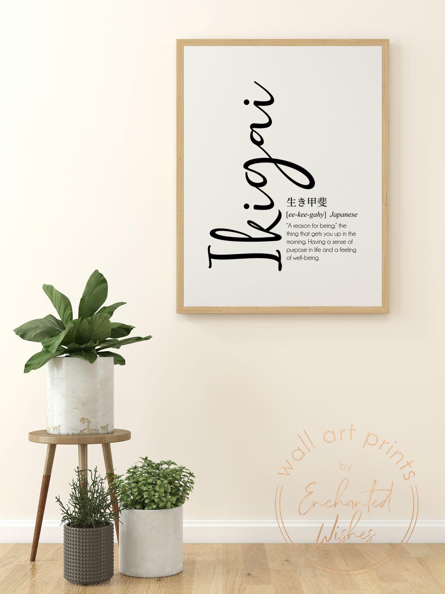 Ikigai definition print