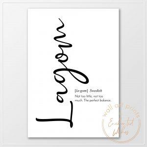 Lagom definition print