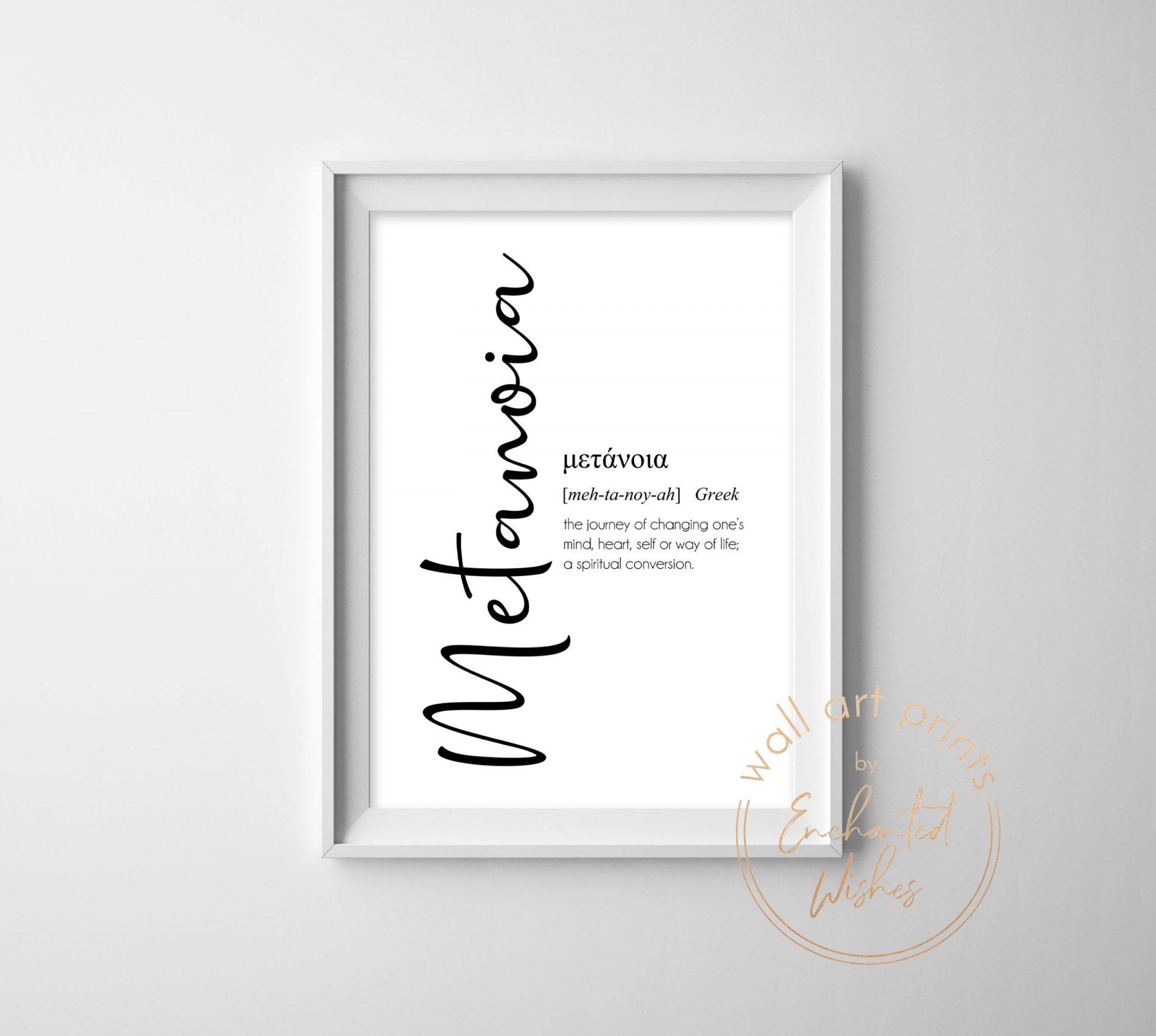 Metanoia definition print