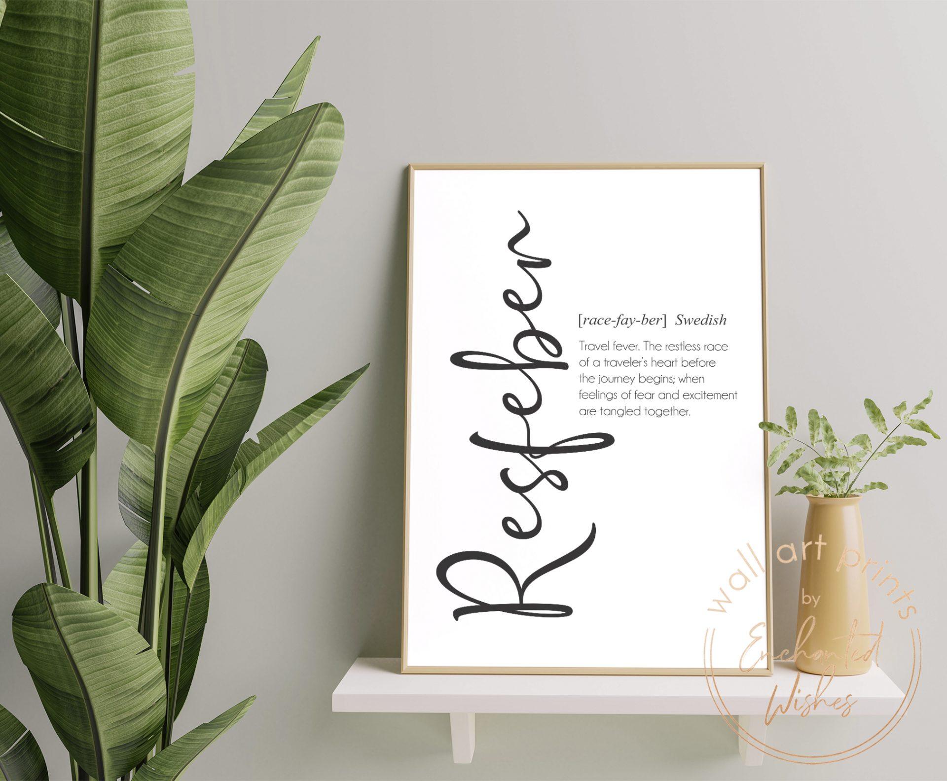 Resfeber definition print