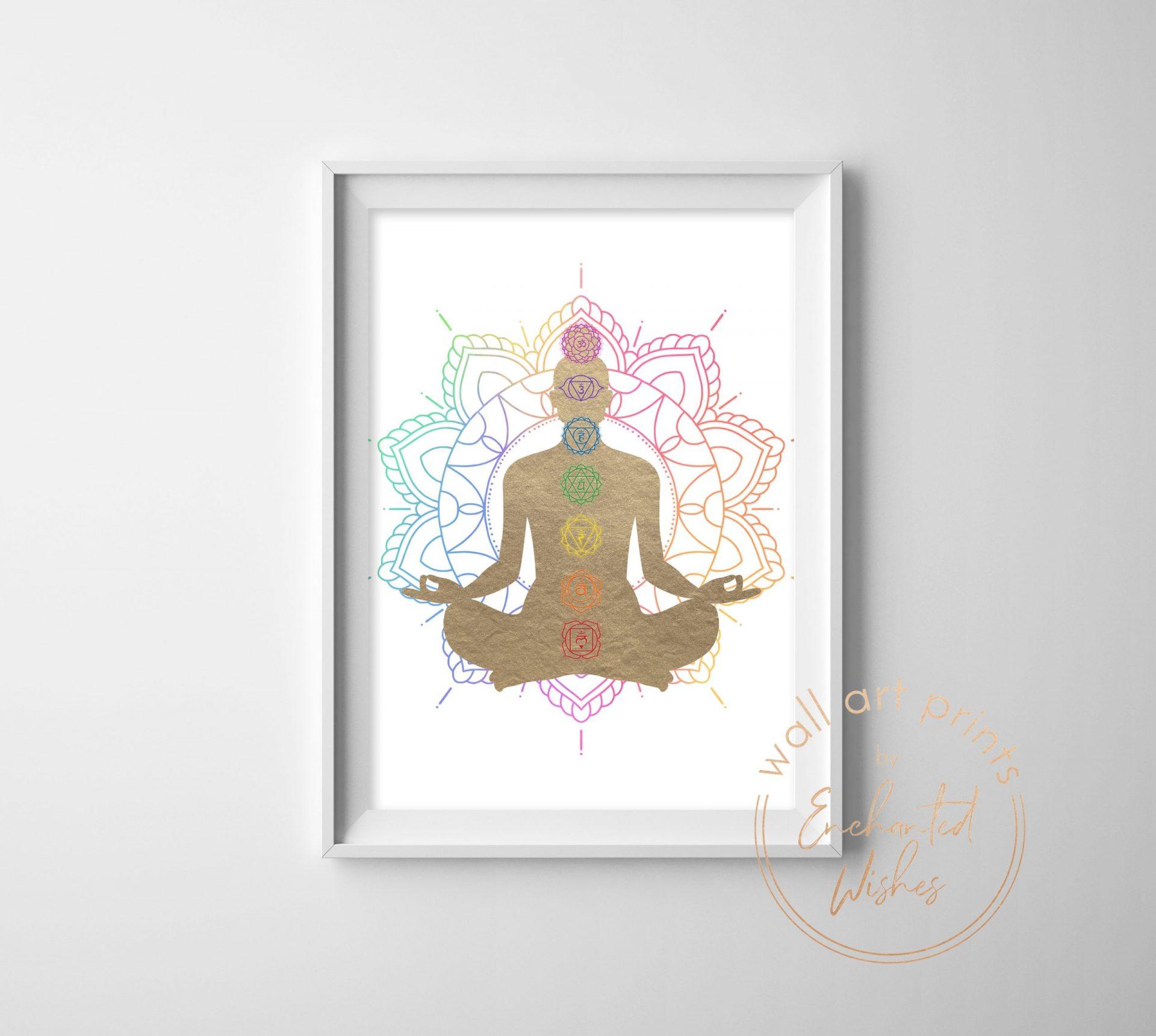 Chakras Buddha Print