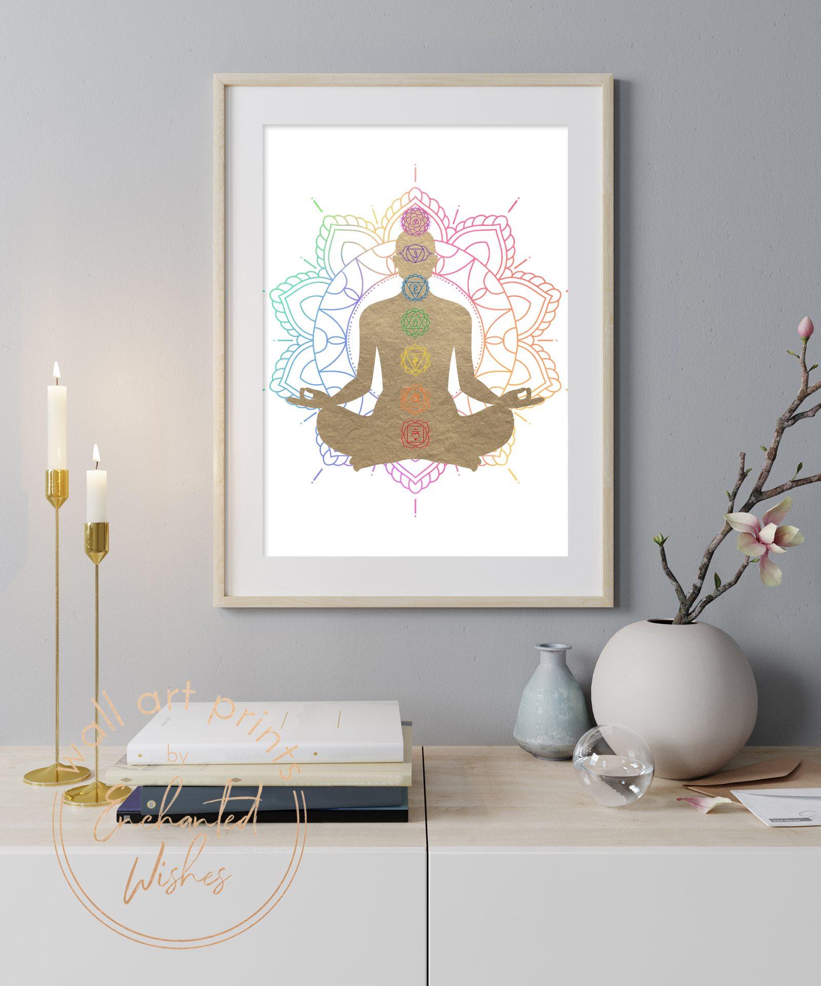 Chakras lotus print