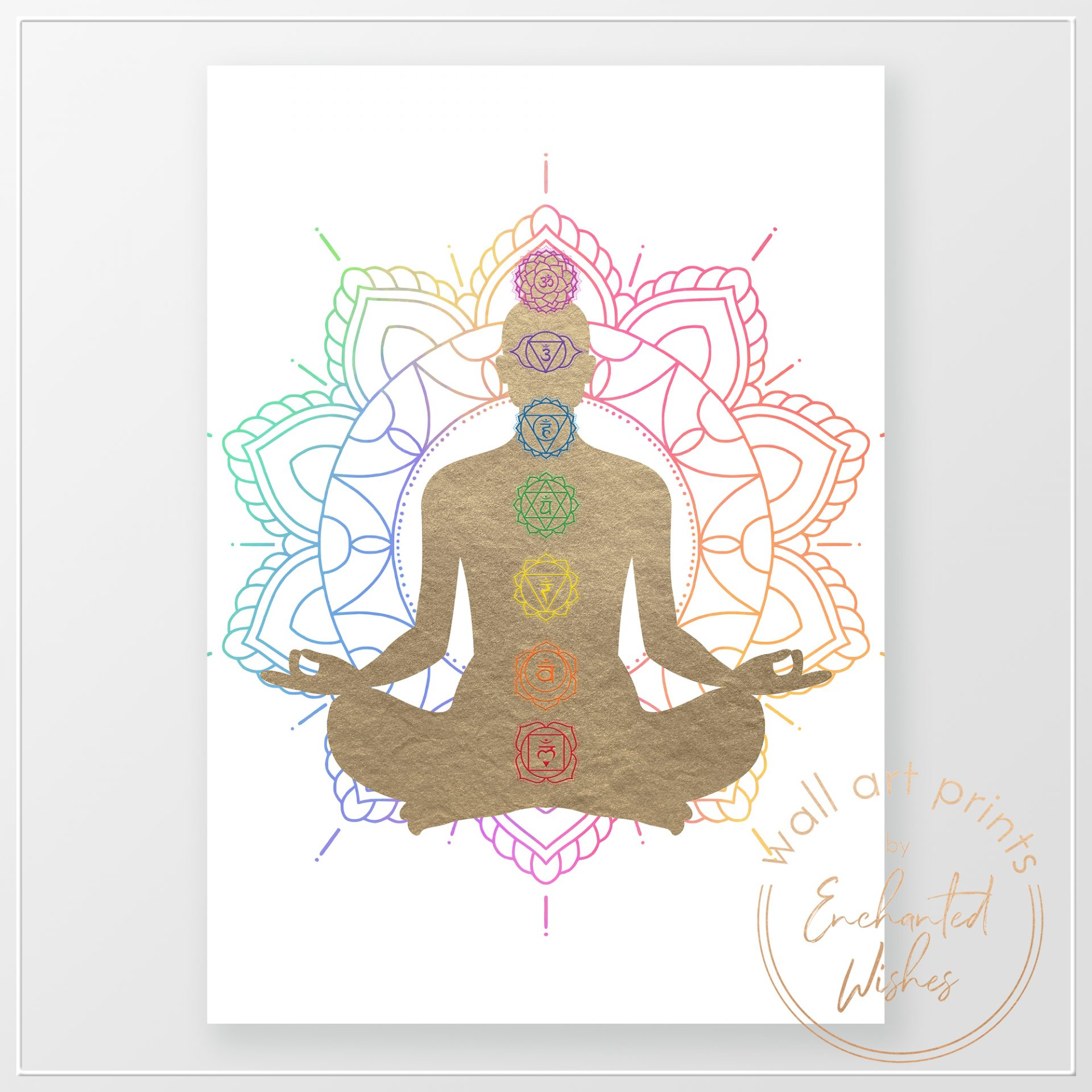 Chakras Mandala Print