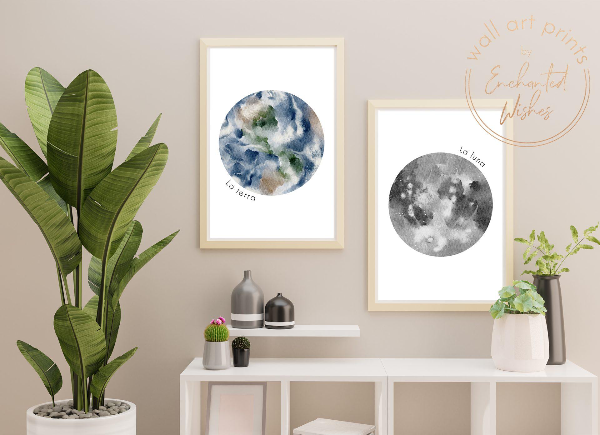 La Terra & La Luna Prints