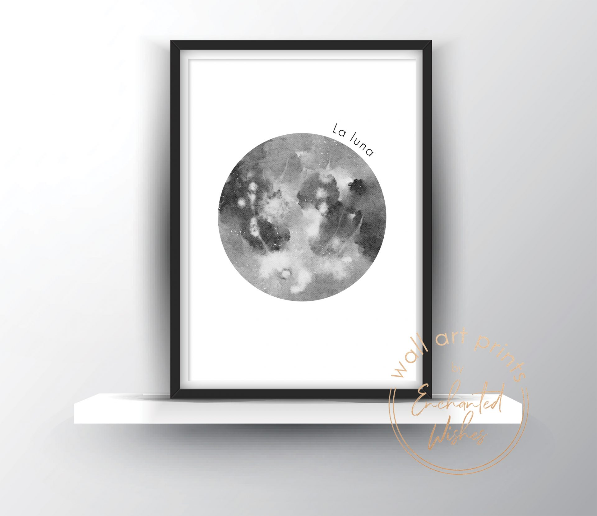Moon La Luna Print