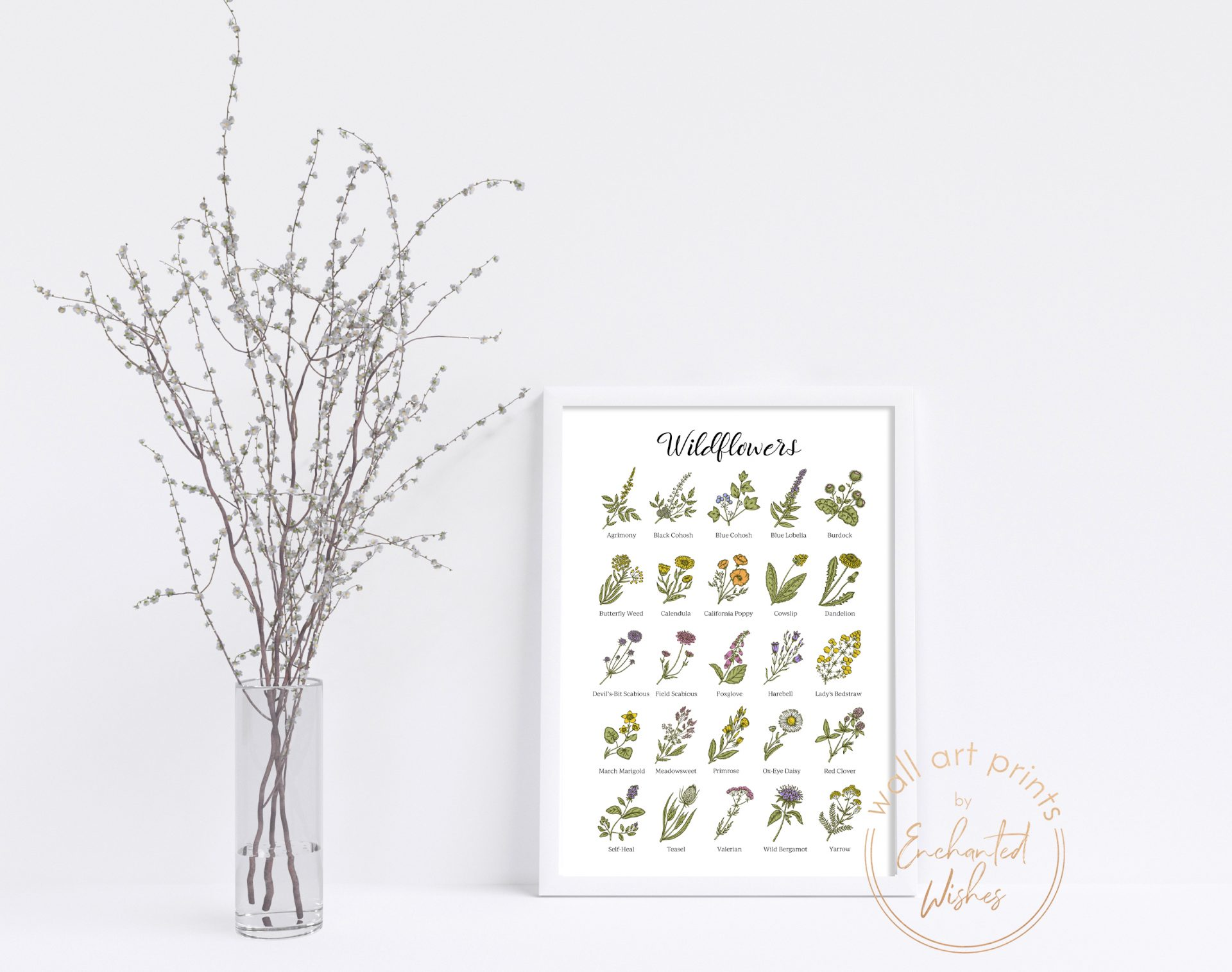 Wildflowers Print Cottagecore