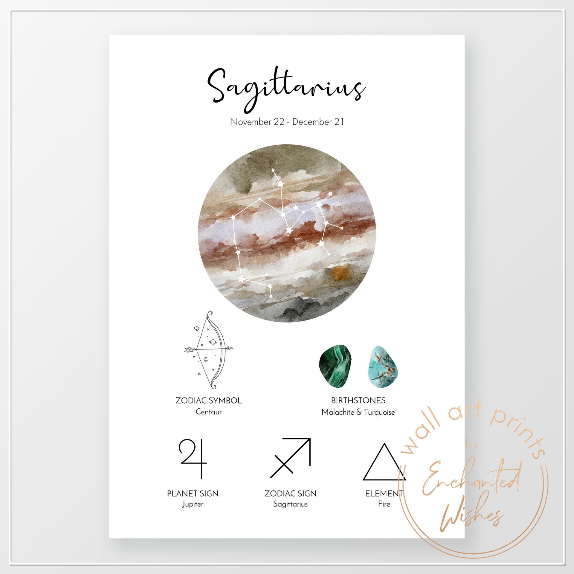 Sagittarius-zodiac-print