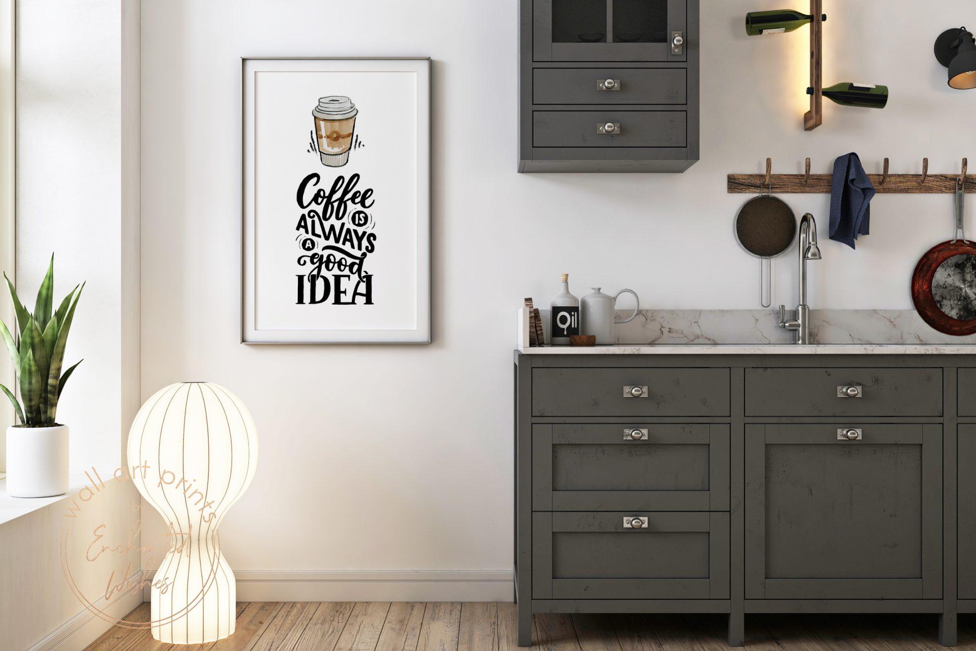 Coffee is always a good idea print